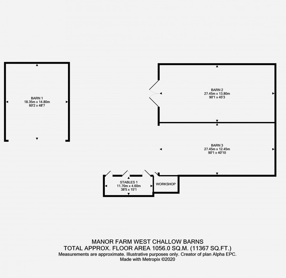 Floorplan for West Challow, Oxfordshire
